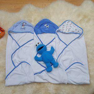 Bundle of 3 Hooded Bath Towel's